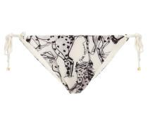 Tief Sitzendes Bikini-höschen mit Print