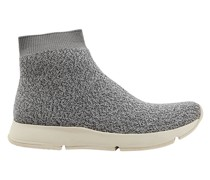 Tyra Marled Stretch-knit High-top Sneakers