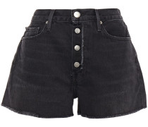 Le Vintage Frayed Denim Shorts