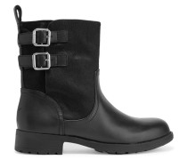 Nayla Calf Hair And Leather Biker Boots Schwarz