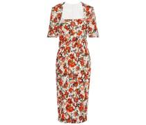 Kylie Belted Floral-print Stretch-crepe Midi Dress