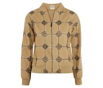 Believe, Belive In Me, Better Me Embellished Cotton Jacket Safrangelb
