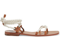 Rope And Leather Sandals