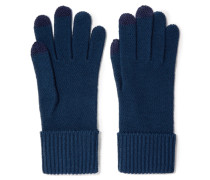 Lucy Merino Wool Gloves Rauchblau