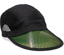 Pvc, Mesh And Woven Baseball Cap