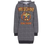 Minikleid aus Jersey aus Einer Baumwollmischung mit Kapuze und Print