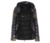 Calinitide paneled shell hooded coat