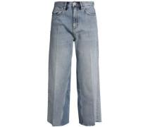 Caron High-rise Wide-leg Jeans Light Denim  8
