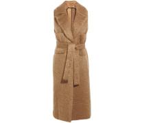 Belted Mohair-blend Coat Braun