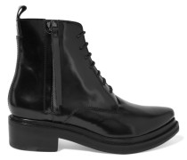 Linden Leather Ankle Boots Schwarz