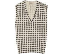 Polka-dot Wool-blend Sweater Hellgrau