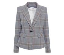 Danielle Blazer aus Tweed aus Einer Baumwollmischung mit Glencheck-muster