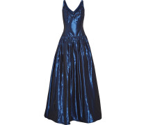 Embellished Faille Gown Navy
