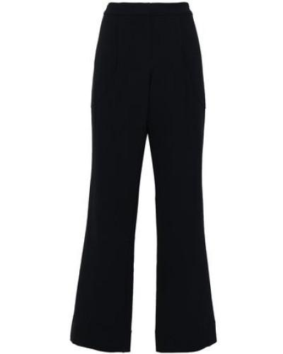 Wool-blend Wide-leg Pants Midnight Blue
