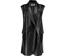 Textured Faux Patent-leather Vest Schwarz