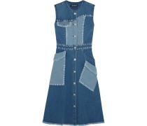 Patchwork Stretch-denim Dress Mittelblauer Denim