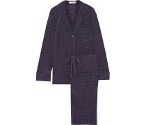 Avery Polka-dot Washed-silk Pajama Set Mehrfarbig