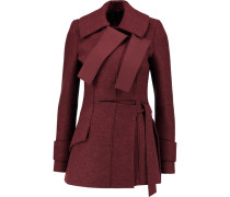 Brushed Wool Coat Burgunder