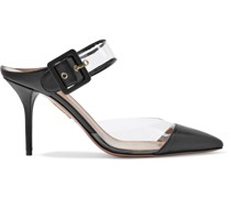 Optic 85 Buckled Leather And Pvc Mules