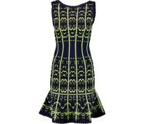 Crochet-knit Mini Dress Mitternachtsblau