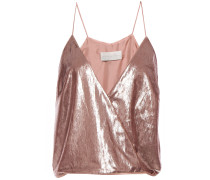 Wrap-effect Tinsel Camisole