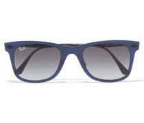 D-frame Acetate Sunglasses Blau