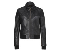 "leather bomber ""unchained"""