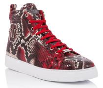 """Hi-Top Sneakers """"Black moon"""""""