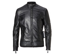 "Leather Moto Jacket ""Odell"""