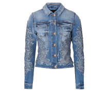 "denim jacket ""kiss it goodbay"""
