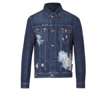 "denim jacket ""skull"""