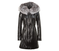 "leather parka ""the queen"""