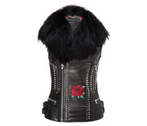 "Leather Vest Short ""Foxy Feel"""