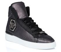 """Hi-Top Sneakers """"skull silver"""""""