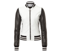 """Leather bomber """"25"""""""