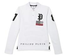 "Polo shirt LS ""Back Skull"""