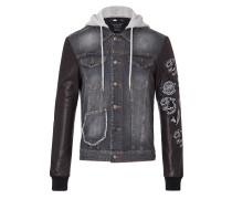 "denim jacket ""rock the world"""