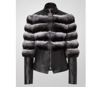 "leather jacket ""super girl"""
