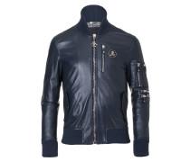 """leather jacket """"hey bomber"""""""