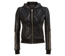 "hooded leather jacket ""my lady"""