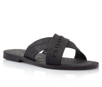 """Sandals Flat """"Try to smile"""""""