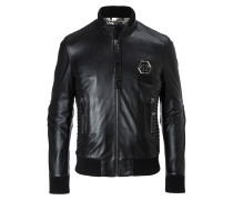 "Leather Bomber ""Exagonal"""