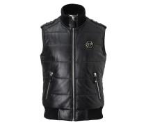 """Leather Vest Short """"Warrior"""""""