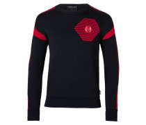 """Pullover Round Neck LS """"Red lines"""""""