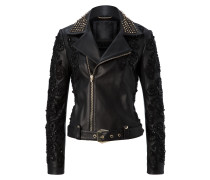 "leather jacket ""black widow"""