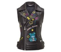 "Leather Vest Short ""Chono"""