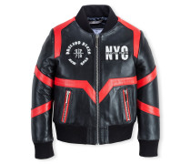 """Leather Bomber """"True Circle"""""""