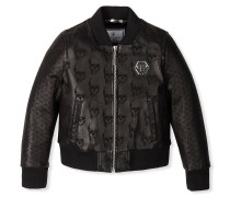 """Leather Bomber """"Embossed"""""""