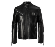 "Leather Moto Jacket ""Cold"""