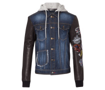 "denim jacket ""rock the world"""